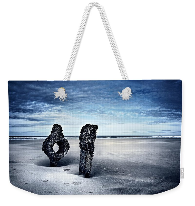 Bay Weekender Tote Bag featuring the photograph On A Coast by Svetlana Sewell