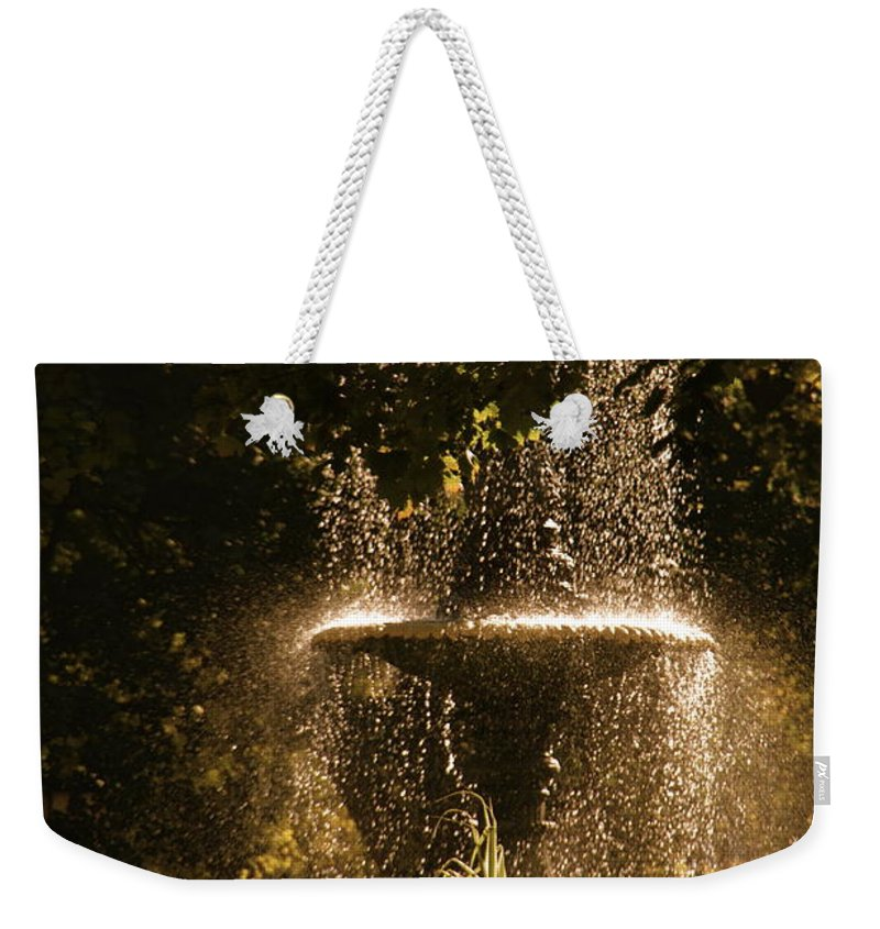 Fountain Weekender Tote Bag featuring the photograph On A Perfect Day by Valerie Rosen
