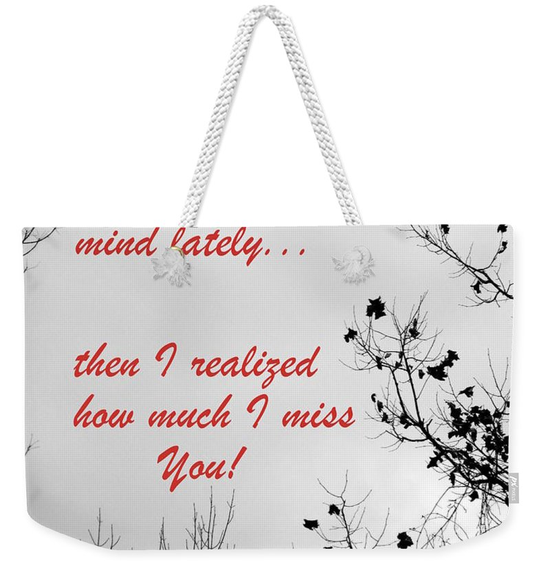 Card Weekender Tote Bag featuring the photograph On My Mind by Deborah Crew-Johnson