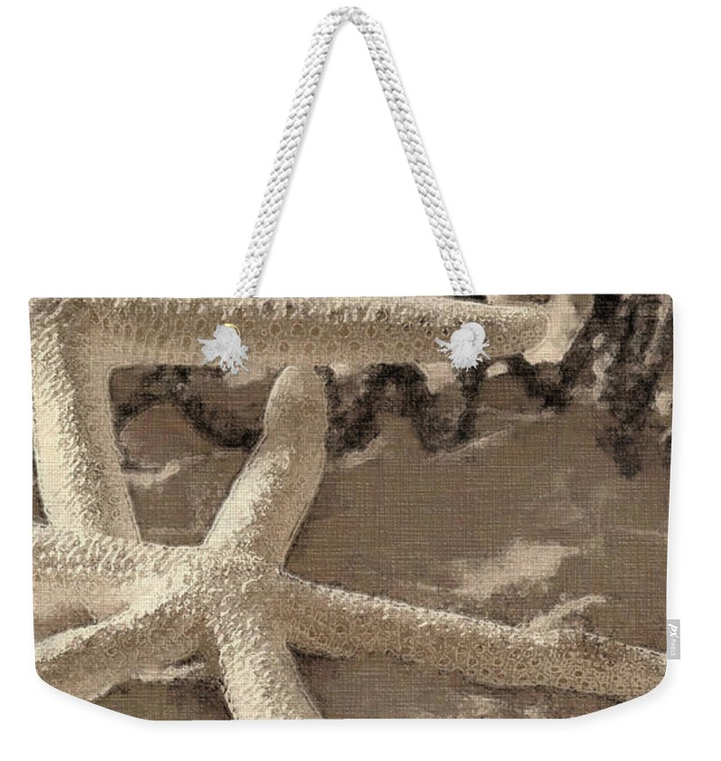 Sea Life Weekender Tote Bag featuring the photograph On The Beach 2 by Betty LaRue