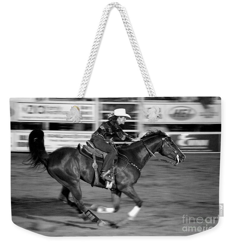 Photograph Weekender Tote Bag featuring the photograph On The Run by Vicki Pelham