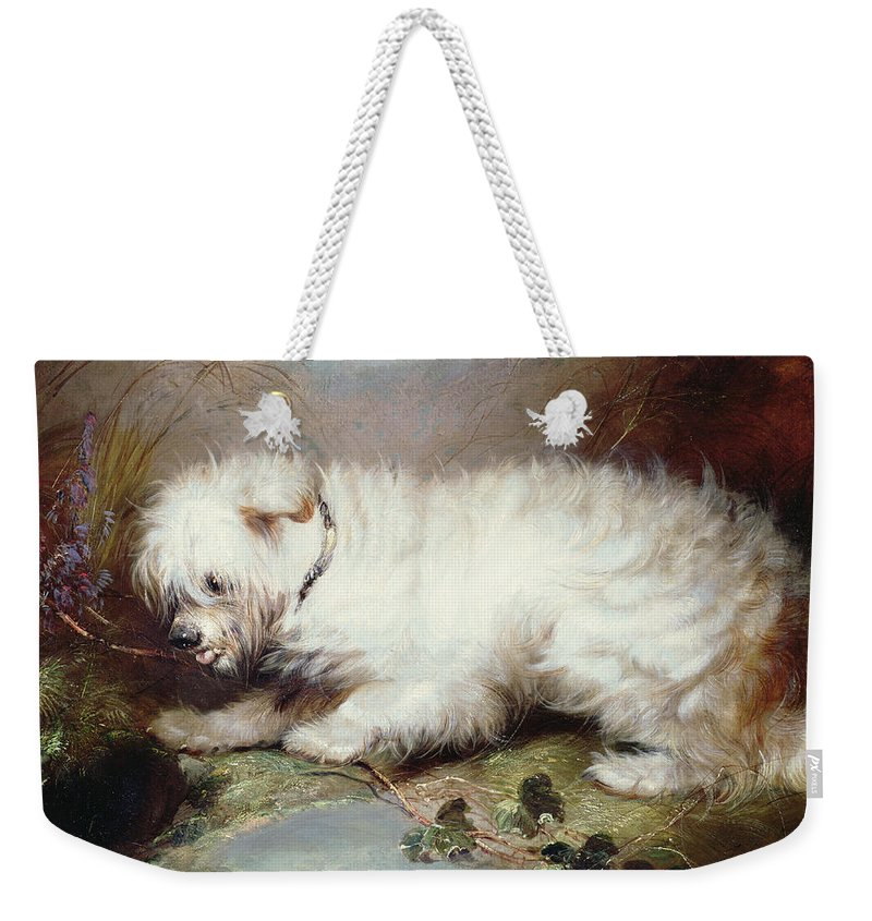 On The Watch Weekender Tote Bag featuring the painting On The Watch by George Armfield