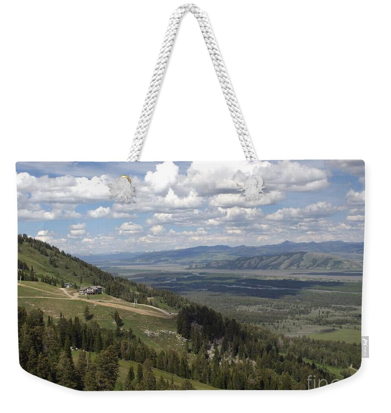 Rendezvous Mountain Weekender Tote Bag featuring the photograph On Top Of Rendezvous Mountain by Living Color Photography Lorraine Lynch