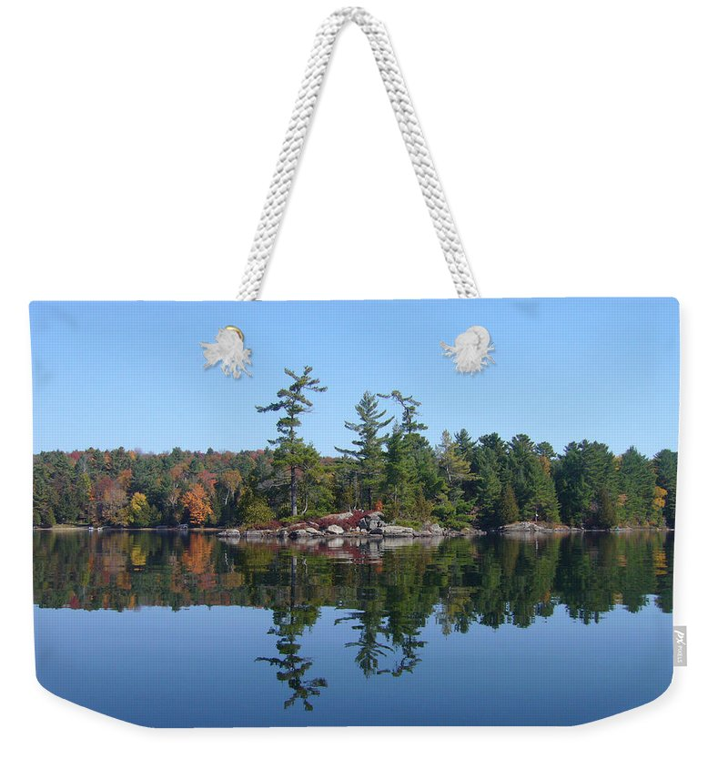 Island Weekender Tote Bag featuring the photograph Once Reflected by Shirley Radebach