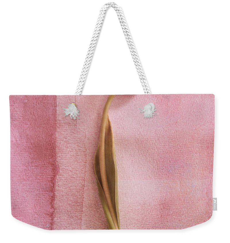 Tulip Weekender Tote Bag featuring the photograph One - S02cr2t02b by Variance Collections