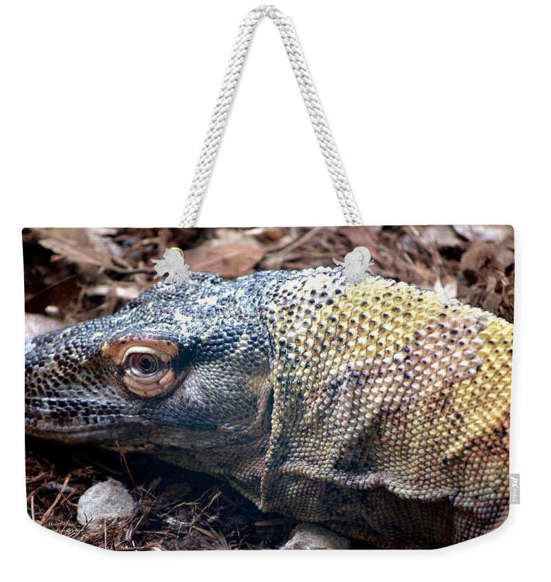 One Weekender Tote Bag featuring the photograph One Eyed Monster by Maria Urso
