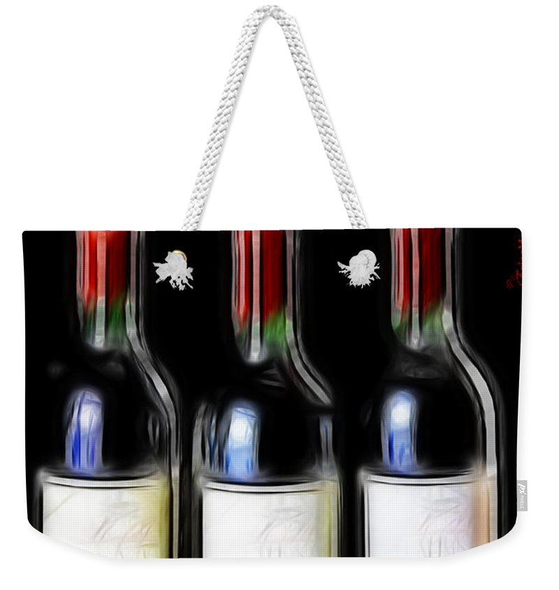 Bottles Weekender Tote Bag featuring the photograph One More For The Road by Ericamaxine Price