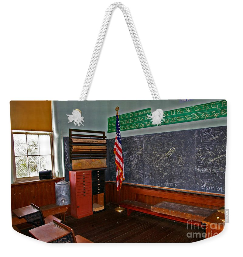 School Weekender Tote Bag featuring the photograph One Room Schoolhouse by Rich Walter