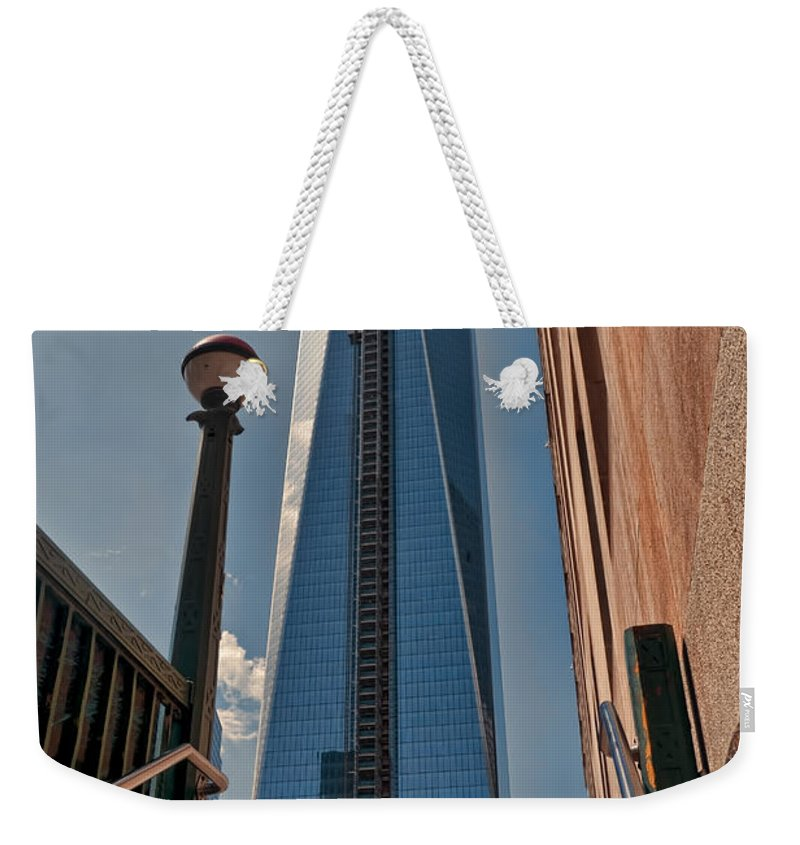 World Trade Weekender Tote Bag featuring the photograph One Wtc First Look by S Paul Sahm
