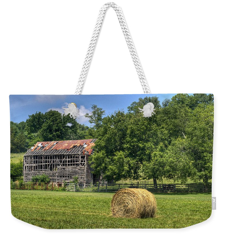 Barn Weekender Tote Bag featuring the photograph Open Air Barn 2 by Douglas Barnett