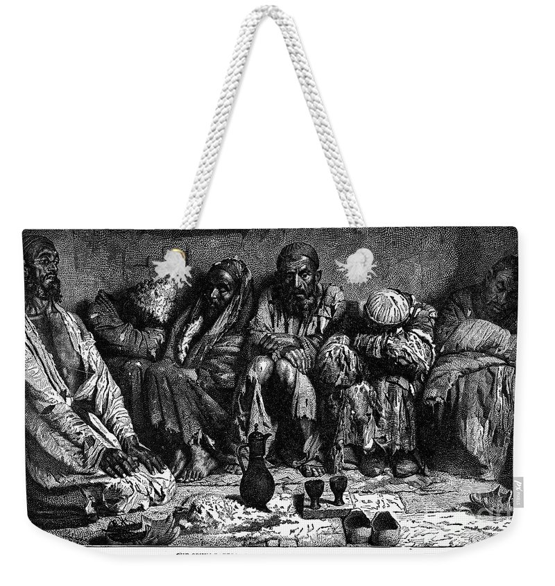1868 Weekender Tote Bag featuring the photograph Opium Addicts, 1868 by Granger