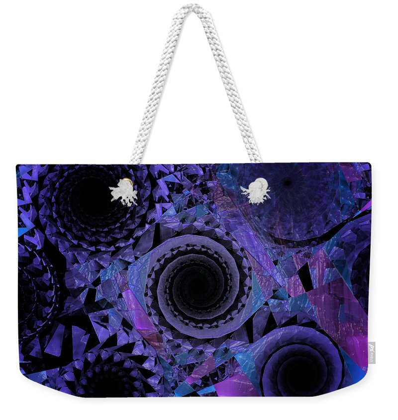 Abstract Weekender Tote Bag featuring the digital art Optical Illusion by Andee Design