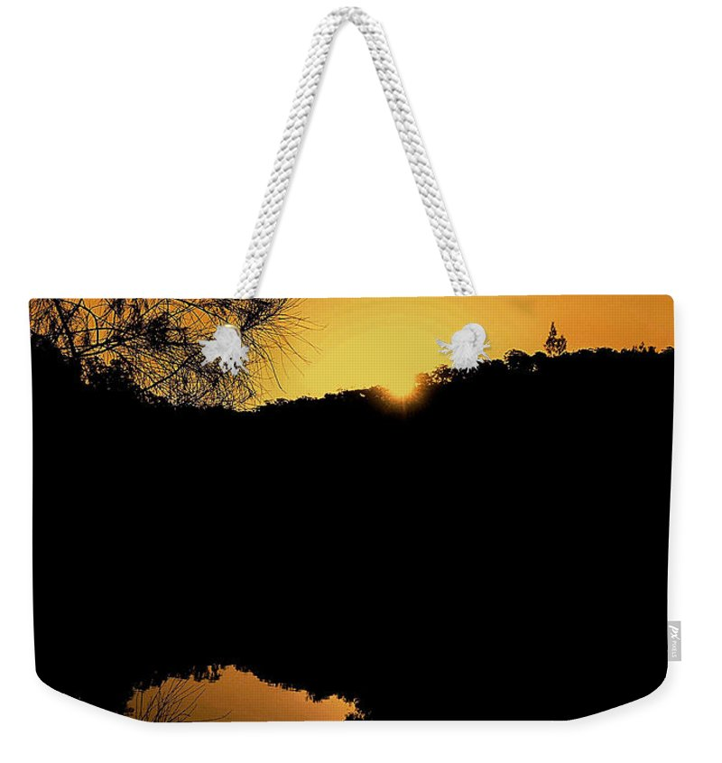 Photography Weekender Tote Bag featuring the photograph Orange Glow by Kaye Menner
