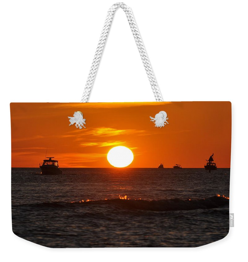 Sunset Weekender Tote Bag featuring the photograph Orange Sunset I by Christine Stonebridge