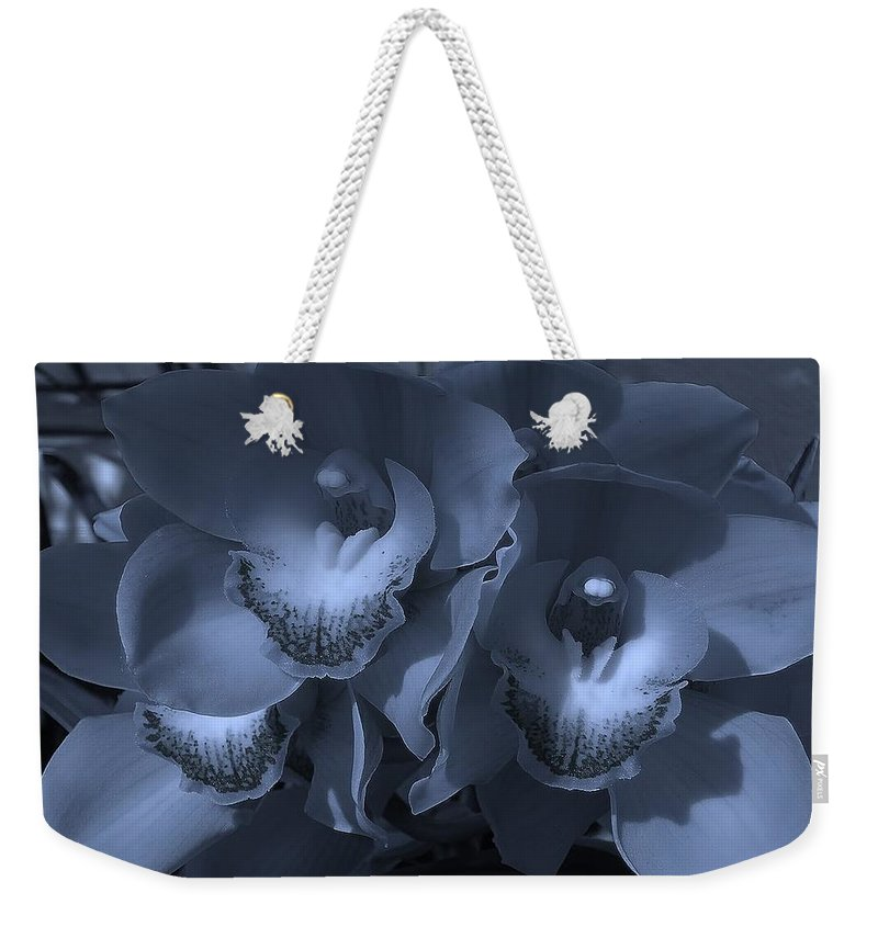 Orchid Weekender Tote Bag featuring the photograph Orchid Monsters by Wanda J King