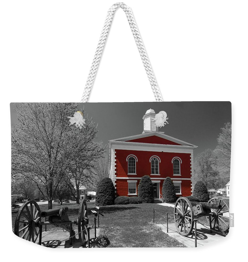 Ozarks Weekender Tote Bag featuring the photograph Order In The Court by Steve Stuller