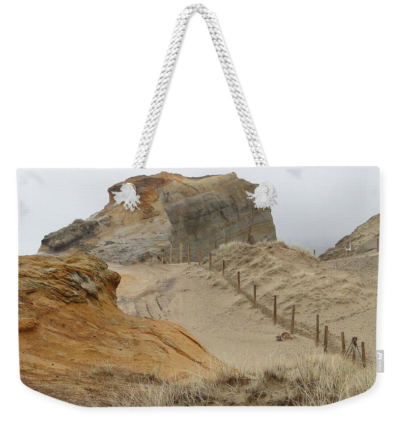 Sand Dunes Weekender Tote Bag featuring the photograph Oregon Sand Dunes by Athena Mckinzie