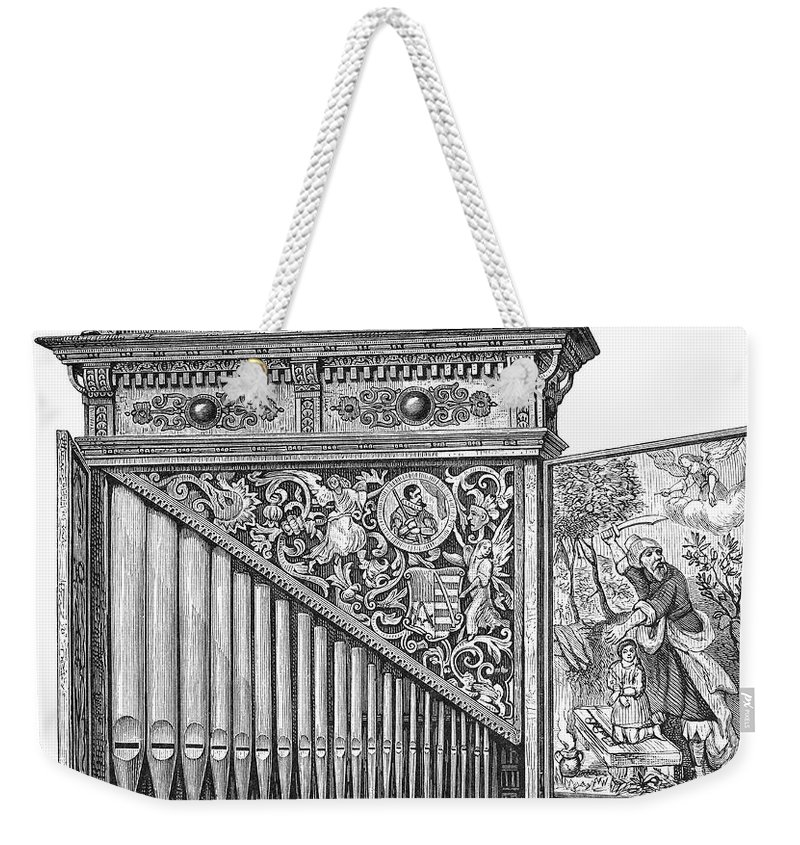 Abraham Weekender Tote Bag featuring the photograph Organ Positive by Granger