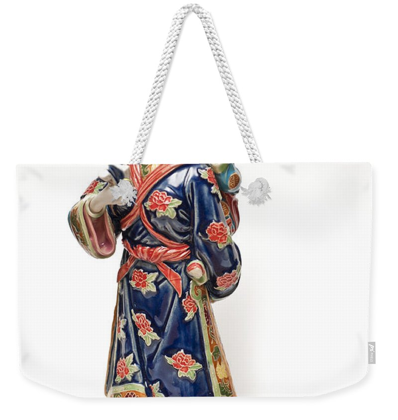 Oriental Lady Weekender Tote Bag featuring the photograph Oriental Lady And Child by Steve Purnell