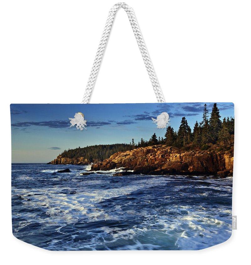 Otter Cliffs Weekender Tote Bag featuring the photograph Otter Cliffs by Rick Berk