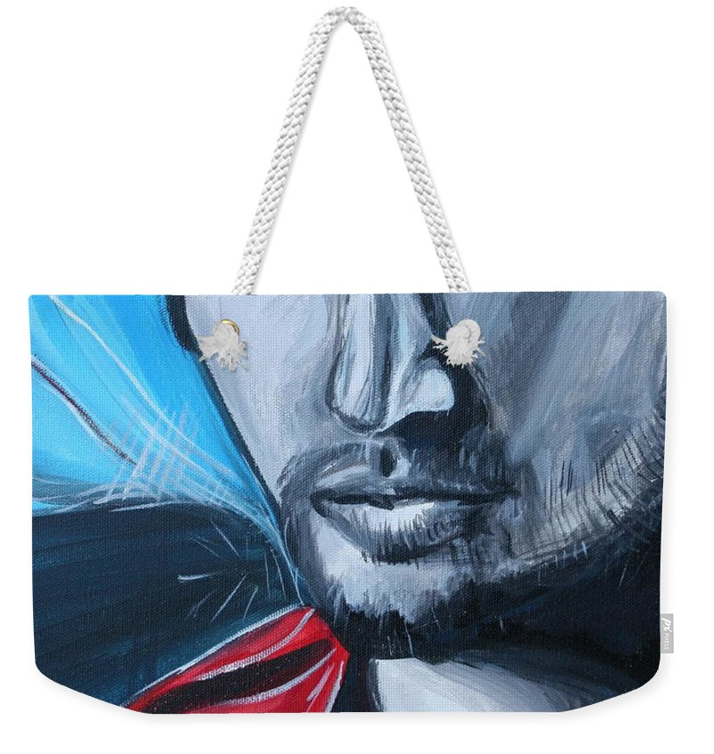 Alex Ovechkin Weekender Tote Bag featuring the painting Ovechkin by Kate Fortin