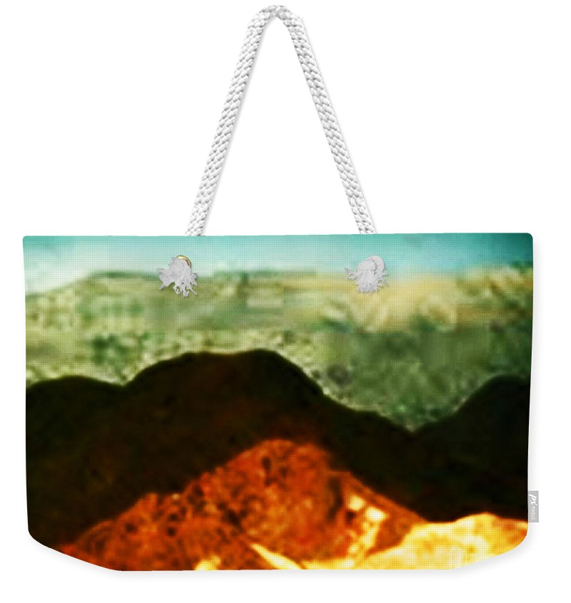 Mountains Weekender Tote Bag featuring the photograph Over The Hills We Go by Angela L Walker