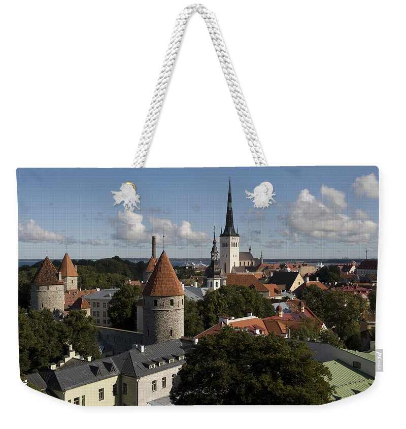 Architecture Weekender Tote Bag featuring the photograph Overview Of Old Town, Medieval by Keenpress