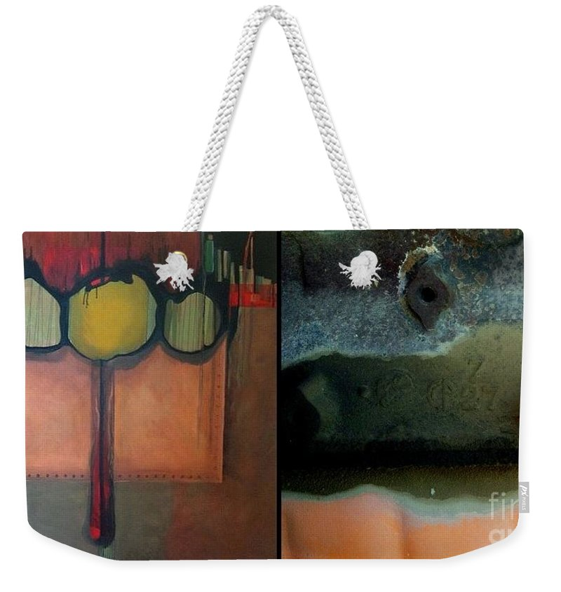 Marlene Burns Weekender Tote Bag featuring the painting p HOTography 72 by Marlene Burns