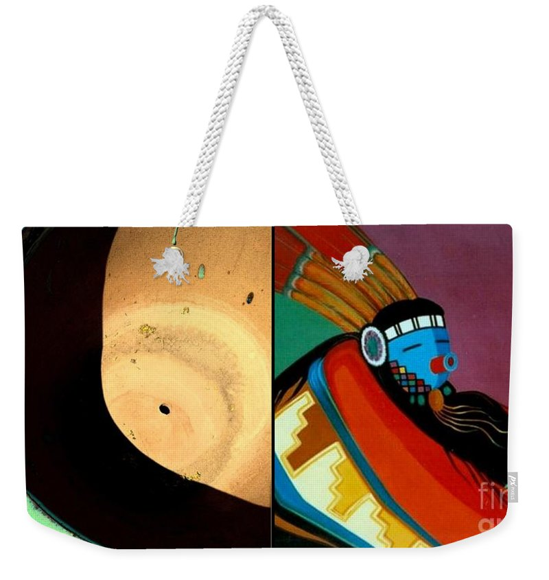 Marlene Burns Weekender Tote Bag featuring the painting p HOTOgraphy 73 by Marlene Burns