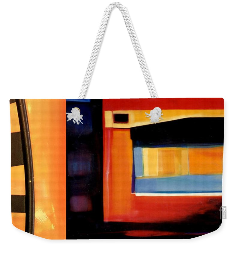 Marlene Burns Weekender Tote Bag featuring the painting p HOTography 75 by Marlene Burns