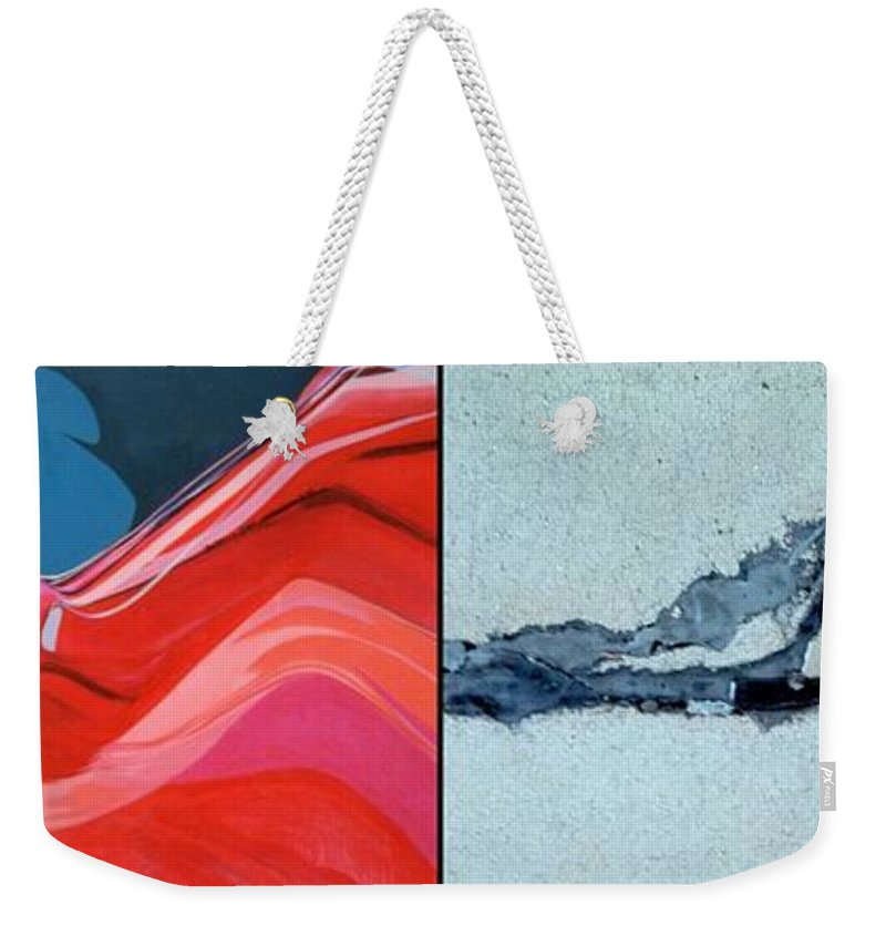 Marlene Burns Weekender Tote Bag featuring the painting p HOTography 76 by Marlene Burns
