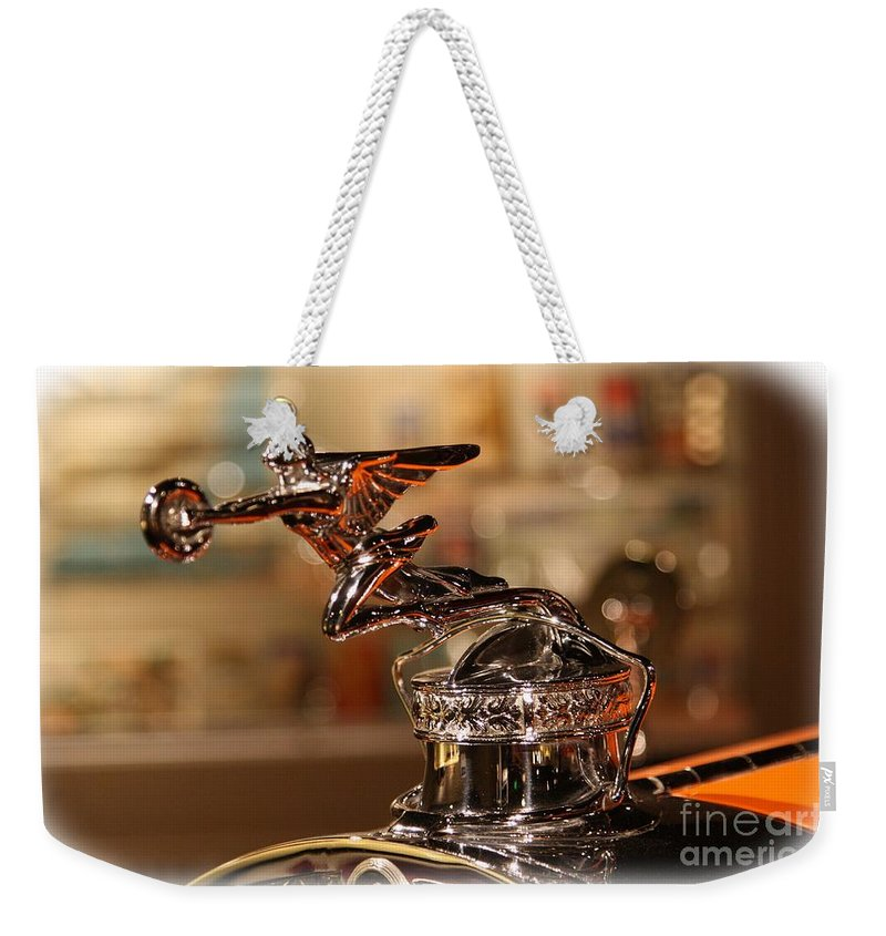 1929 Weekender Tote Bag featuring the photograph Packard Ornament by Tommy Anderson