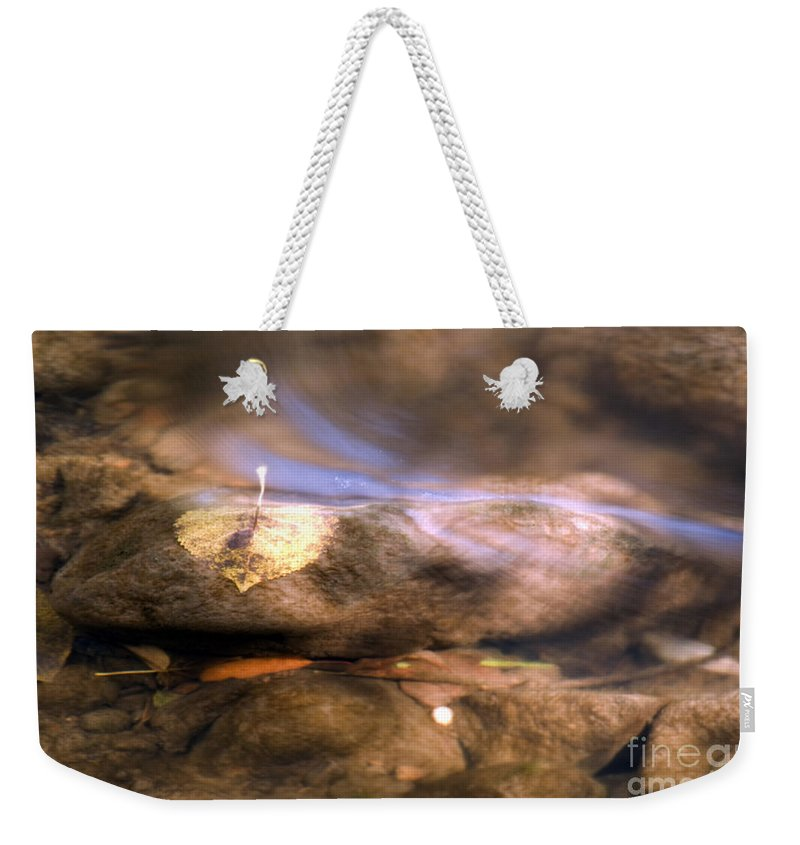 Rocks Weekender Tote Bag featuring the photograph Paint Creek by Optical Playground By MP Ray