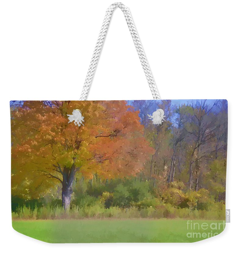 Autumn Weekender Tote Bag featuring the photograph Painted Leaves Of Autumn by Traci Cottingham