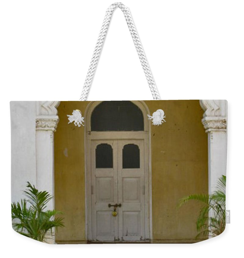Weekender Tote Bag featuring the photograph Palace Door by David Pantuso