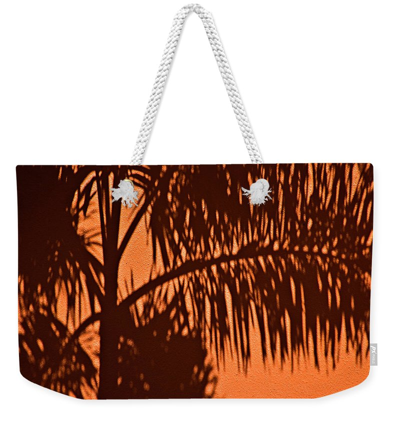 Palm Frond Weekender Tote Bag featuring the photograph Palm Frond Abstract by Carolyn Marshall