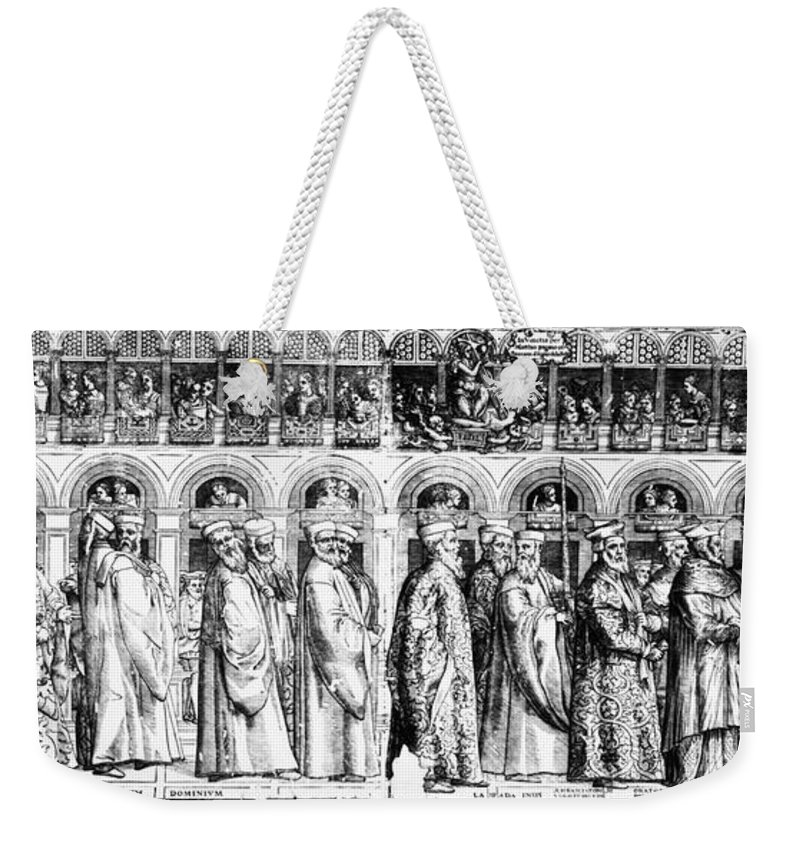 1560s Weekender Tote Bag featuring the photograph Palm Sunday Procession by Granger
