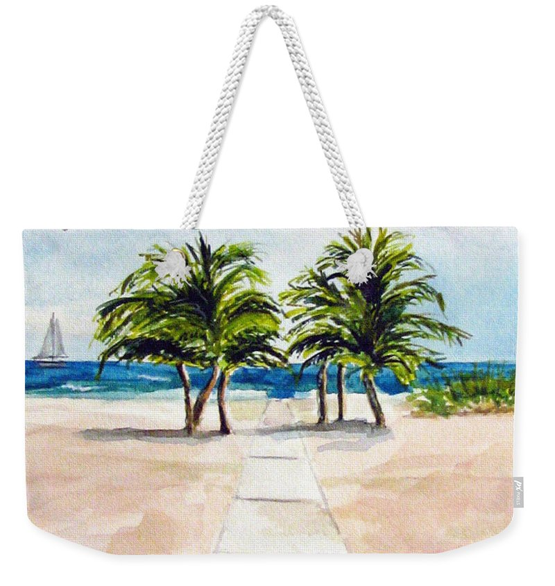 Palm Trees Weekender Tote Bag featuring the painting Palm Trees by Clara Sue Beym