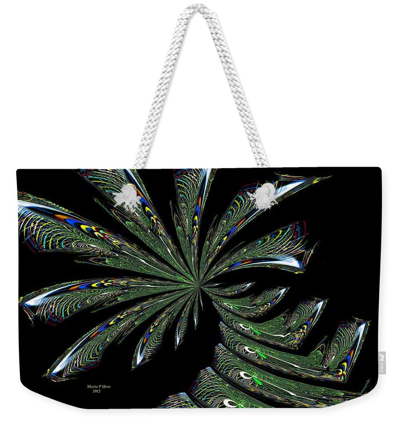 Palm Weekender Tote Bag featuring the digital art Palm Trees by Maria Urso