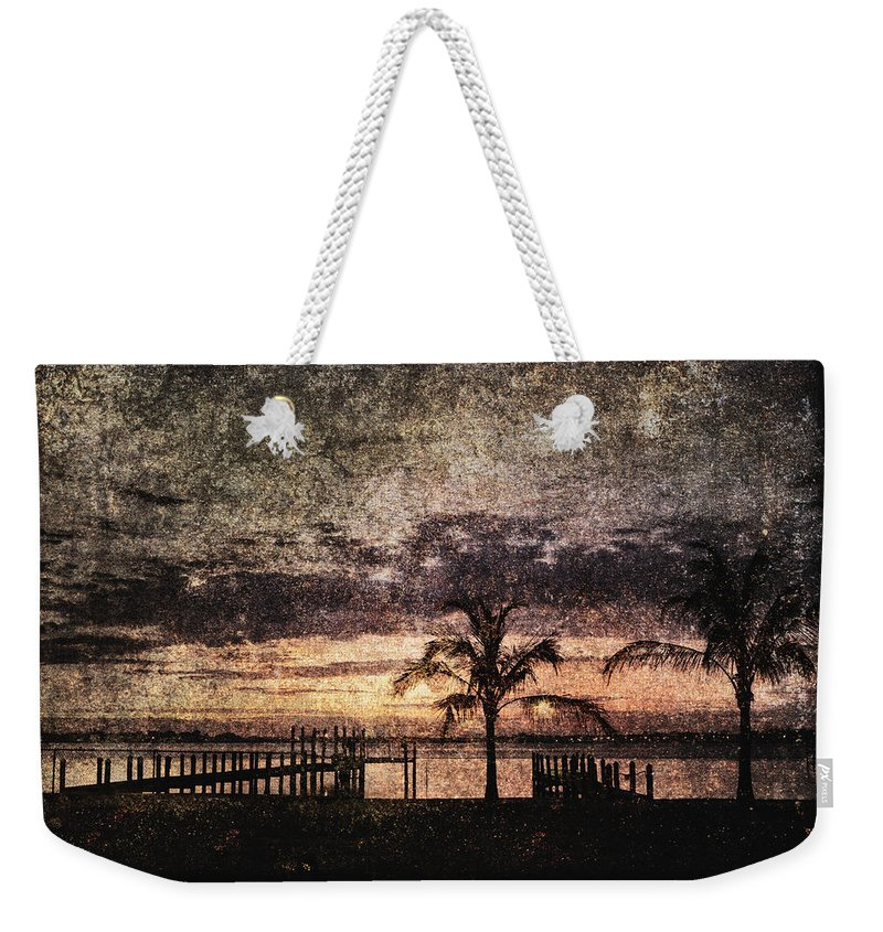 Absence Weekender Tote Bag featuring the photograph Palms And Docks by Skip Nall