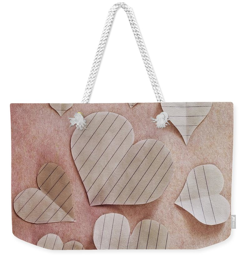 Paper Weekender Tote Bag featuring the photograph Papier D'amour by Priska Wettstein