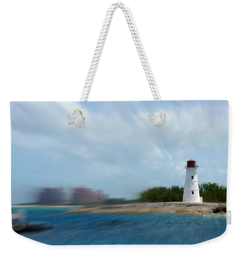 Lighthouse Weekender Tote Bag featuring the photograph Paradise Island Lighthouse by Carla Parris