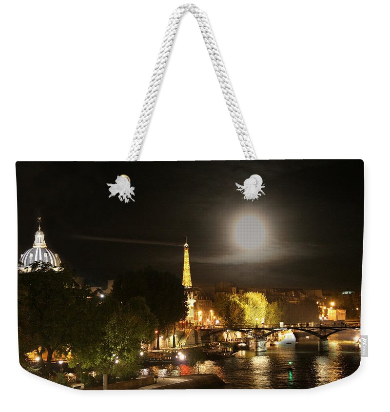 Paris Weekender Tote Bag featuring the photograph Paris At Night by Diana Haronis