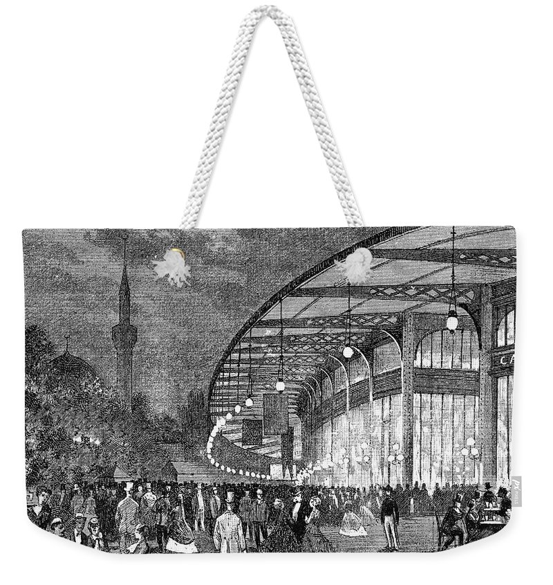 1867 Weekender Tote Bag featuring the photograph Paris: Exposition Of 1867 by Granger
