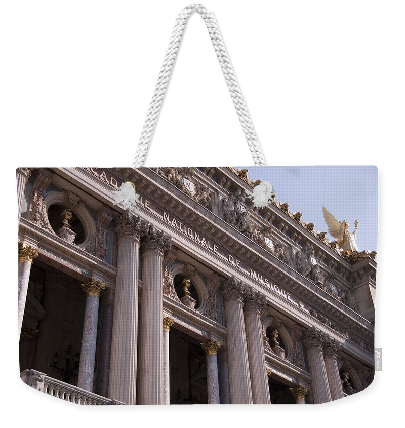 Paris Opera House Weekender Tote Bag featuring the photograph Paris Opera House IIi  Exterior by Jon Berghoff