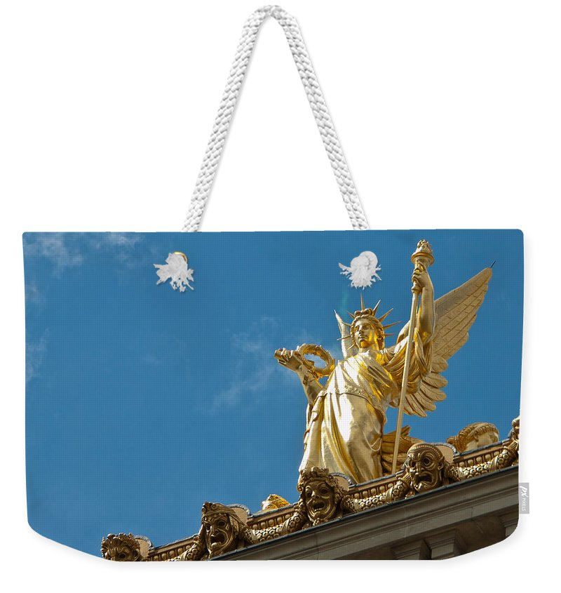 Paris Opera House Weekender Tote Bag featuring the photograph Paris Opera House V  Exterior Facade by Jon Berghoff