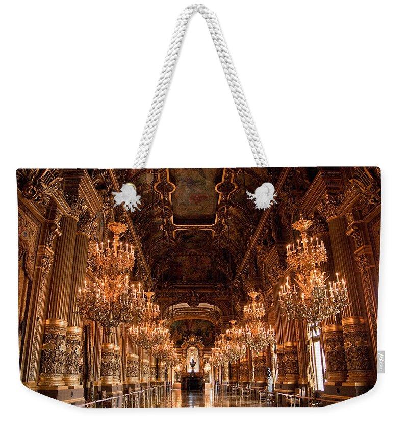 Paris Opera House Weekender Tote Bag featuring the photograph Paris Opera House Vi by Jon Berghoff