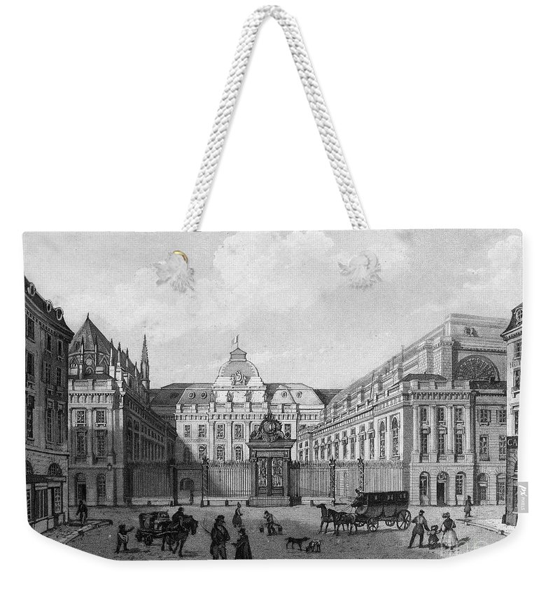 19th Century Weekender Tote Bag featuring the photograph Paris: Palais De Justice by Granger
