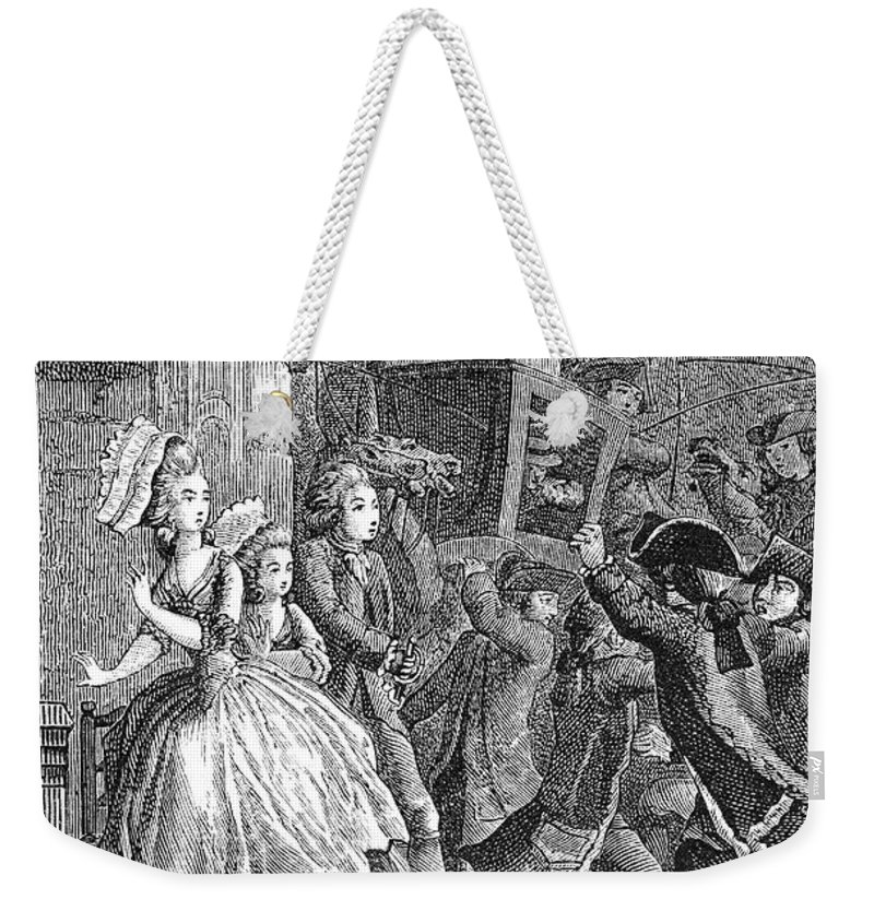 18th Century Weekender Tote Bag featuring the photograph Paris: Uproar In The Street by Granger
