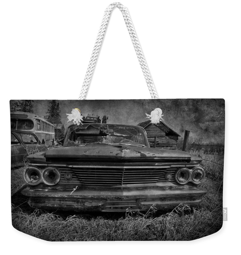 Cars Weekender Tote Bag featuring the photograph Party Seeds by The Artist Project